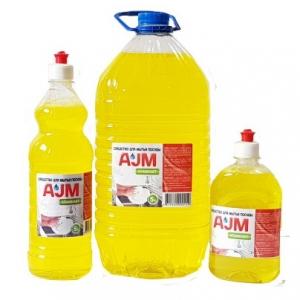 Средство для мытья посуды «АJМ» STANDART, 500 мл, 1л, 5л