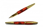 Ручка металлическая TZ63-А10 коричневый с золотом корпус, золот.клип