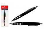 Ручка авт. шариковая син. TZ-4089Р-06 черный пластик корпус с прорезин.держателем