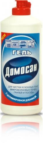 """Гель с антимикробной добавкой для чистки газовых плит и микроволновых печей """"Домосан"""""""
