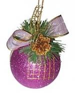 Шар новогодний декорированный, парча
