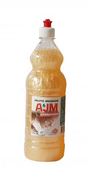 Мыло жидкое «АJМ» с глицерином, 1 л с пуш-пулом