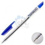 Ручка шариковая Linc Corona Plus синяя, стер. масленый, прозрачный корпус