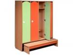 Комплект мебели для детского гардероба 4-х местный ДГСК-01
