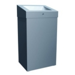 """Корзина для мусора с конусным отверстием 47 л металл """"MERIDA STELLA"""" (матовая) Арт. KSM102"""