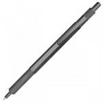 Ручка металлическая черный корпус, синий стержень