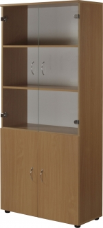 Шкаф со стеклянными дверцами М05-4