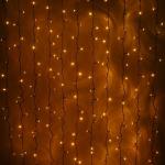 """Гирлянда """"Светодиодный Дождь"""" 2х1,5м, постоянное свечение, теплый белый"""