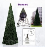 Большая уличная каркасная елка Standart