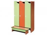 Комплект мебели для детского гардероба 3-х местный Волна