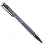 Ручка авт. син. корпус soft серый, черный